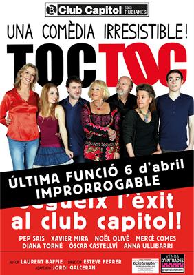 Toc toc una com dia irresistible teatre barcelona - Toc toc barcelona ...