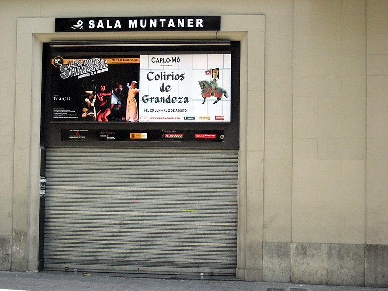 Sala muntaner teatre barcelona for Sala muntaner barcelona